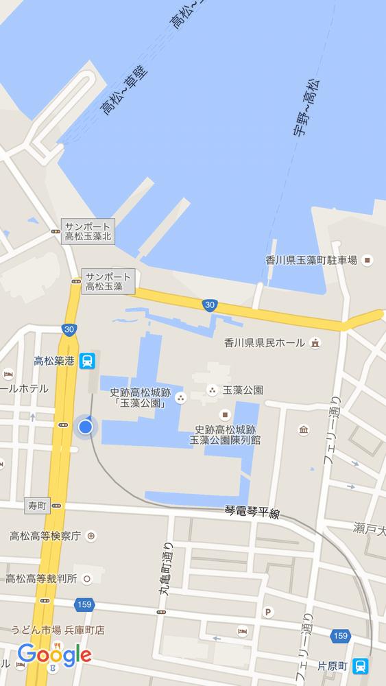 高松城跡の地図