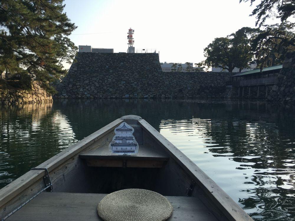 高松城跡の和船「玉藻丸」乗船