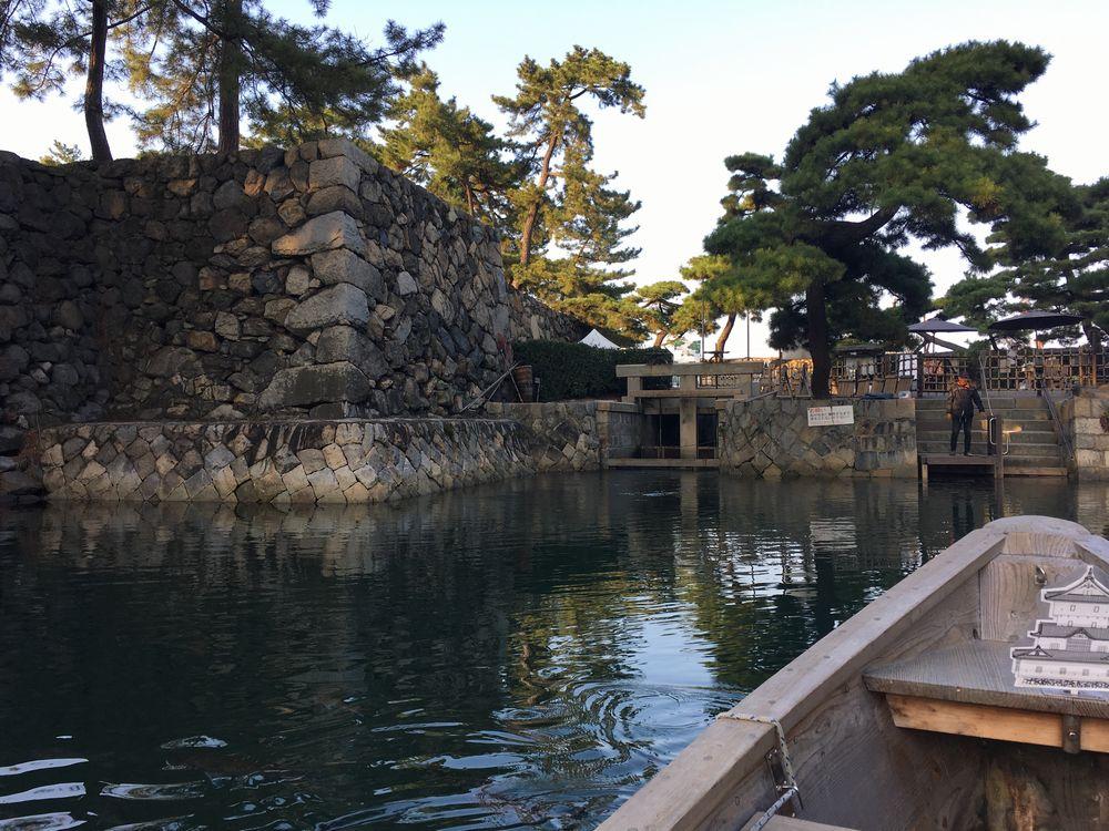 高松城の濠の水門