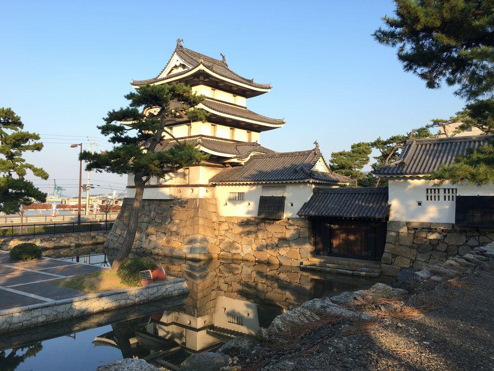 高松城の月見櫓、水手御門、渡櫓