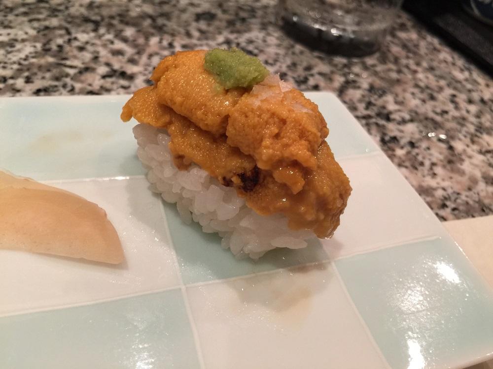天駒ウニの寿司