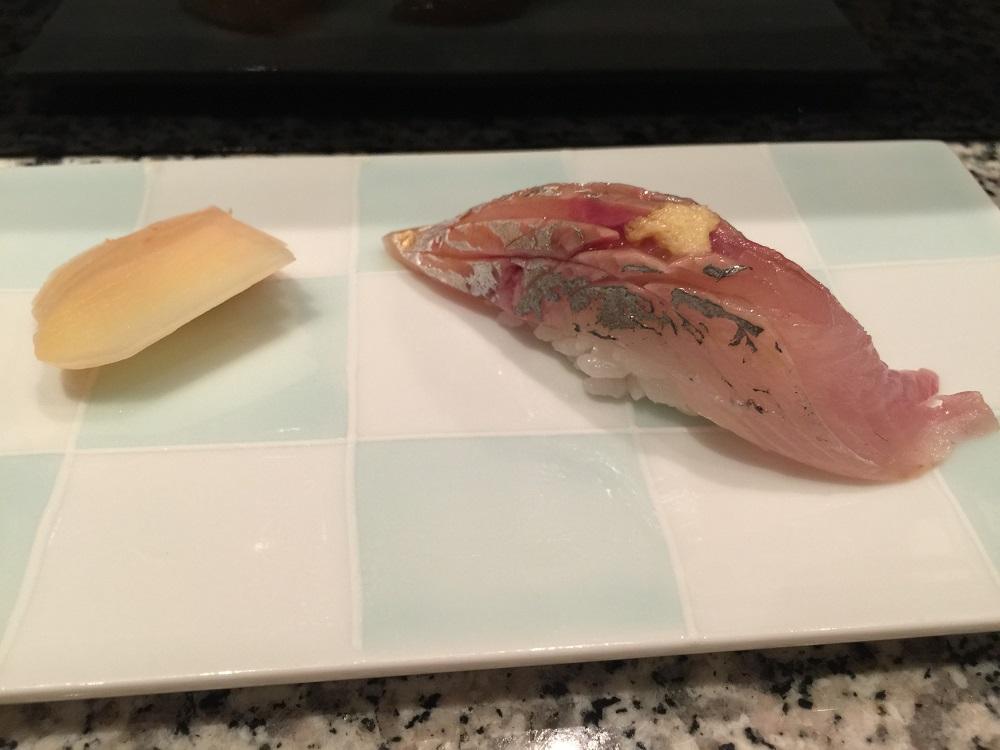 天駒アジの寿司