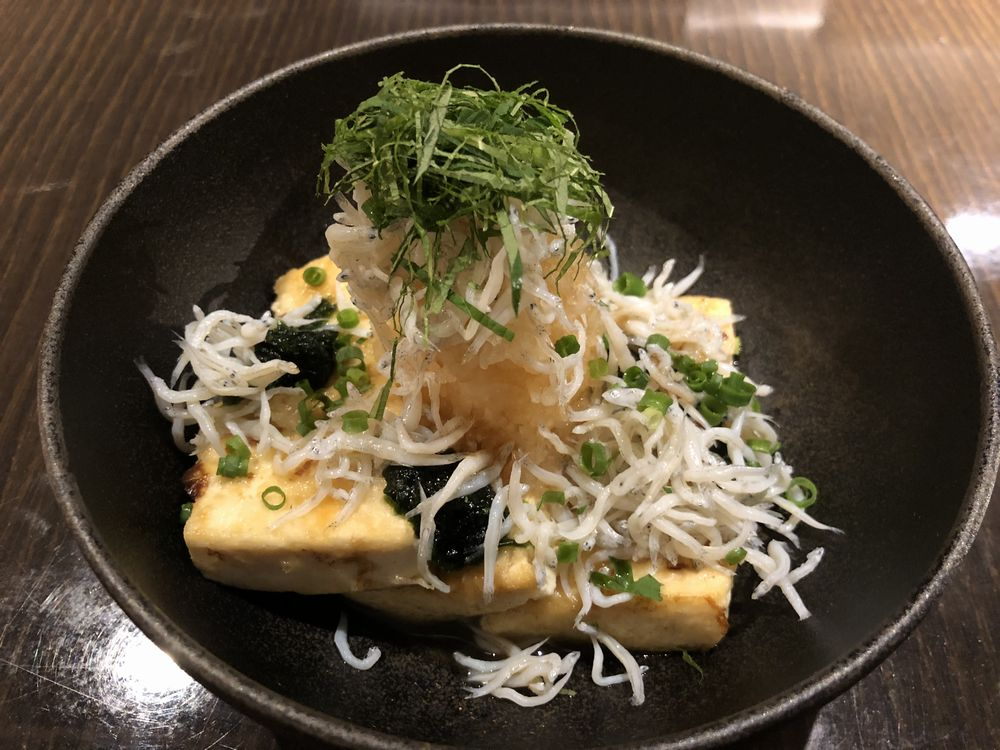世田谷代田駅近くの「鉄のタナ」のシラスおろし焼き豆腐