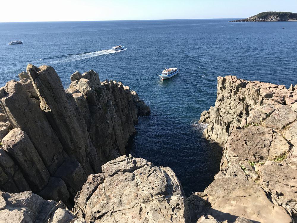 東尋坊の断崖絶壁4