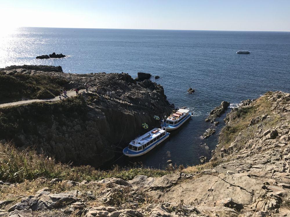 東尋坊の観光遊覧船1