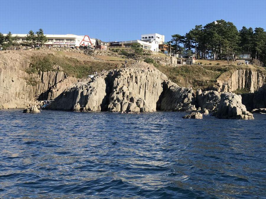 東尋坊のライオン岩