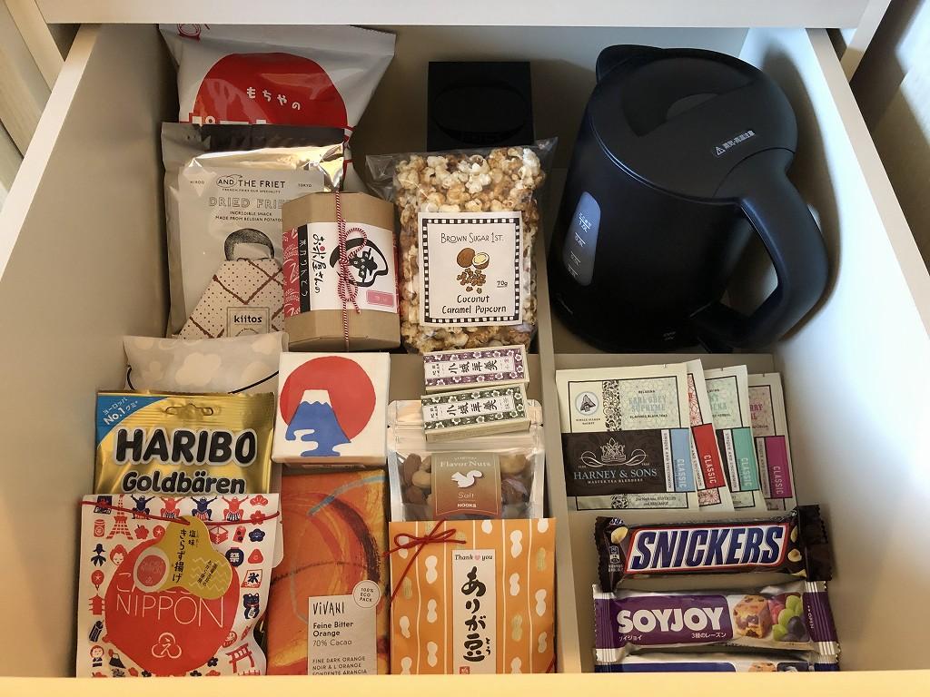 東京エディション虎ノ門のアメニティのお菓子