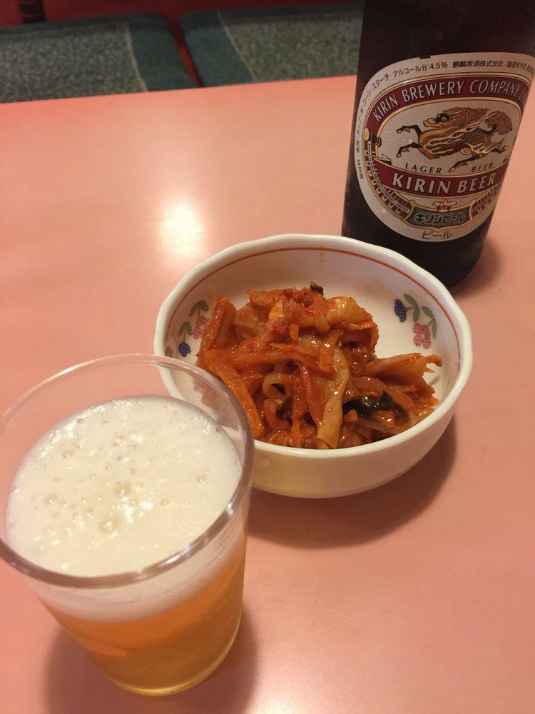 東京まんぷくラーメン大町店のキムチ