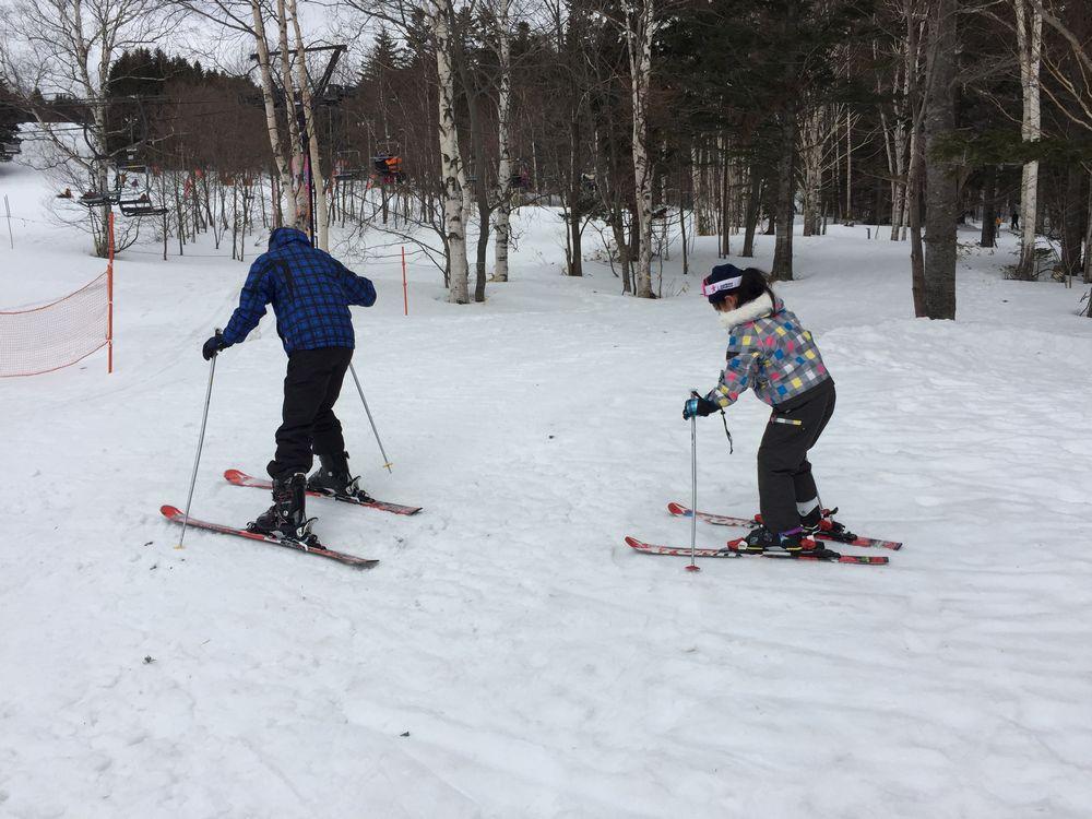 息子・娘が初スキー