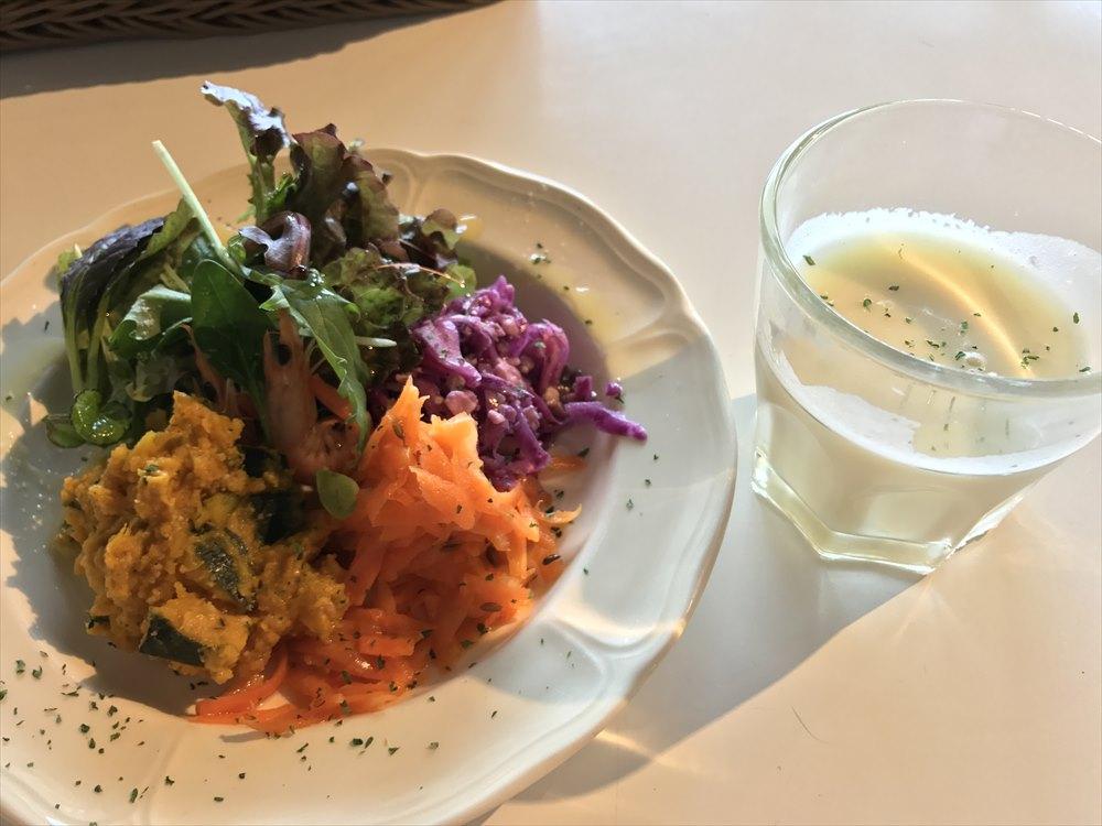 鞆の浦 a cafeの前菜の野菜