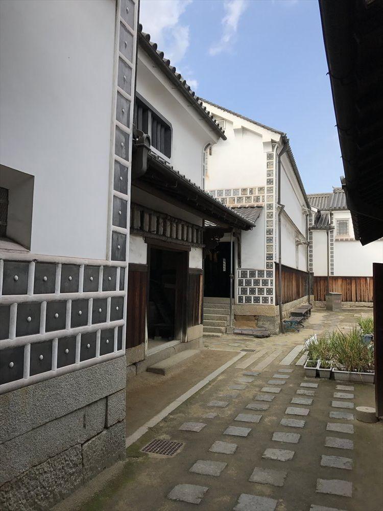 太田家住宅のなまこ壁の文様1