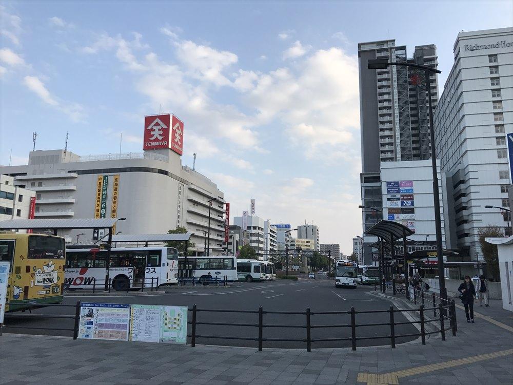 福山駅前の風景