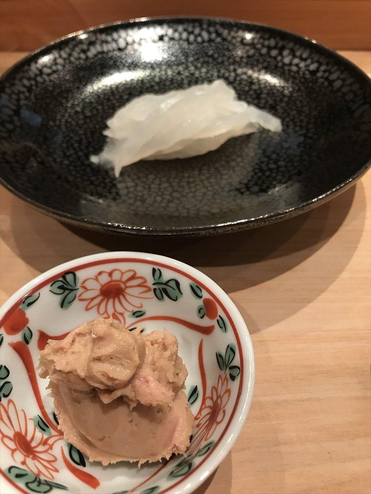 広島の吉鮨のかわはぎ