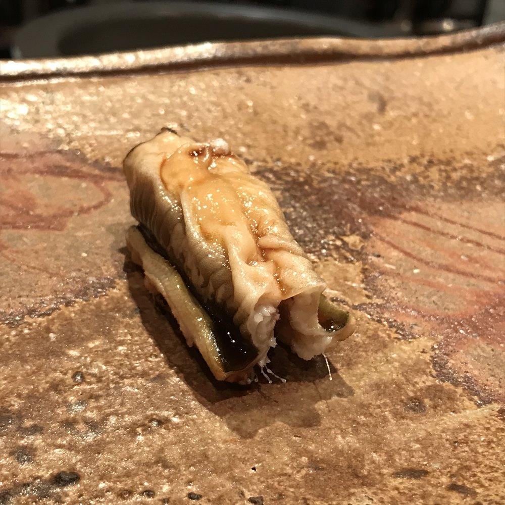 広島の吉鮨の煮穴子のツメ