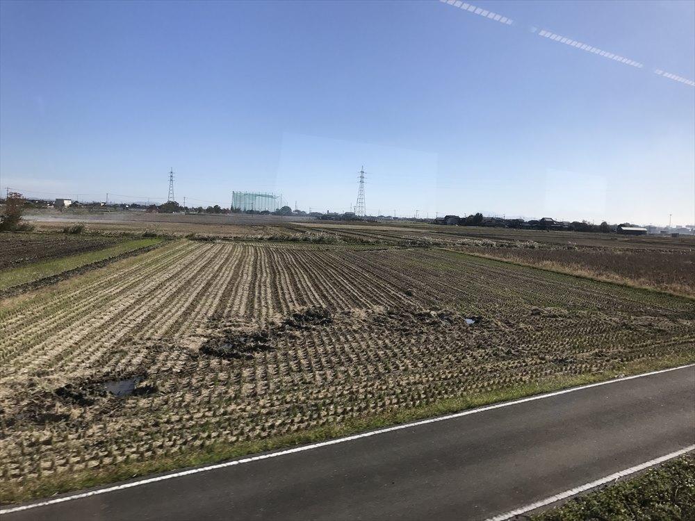 佐賀市の稲刈りの後