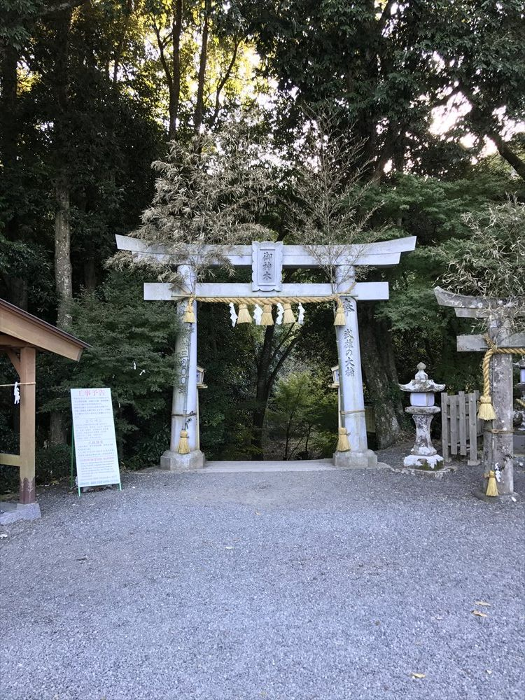 武雄神社の大楠の鳥居