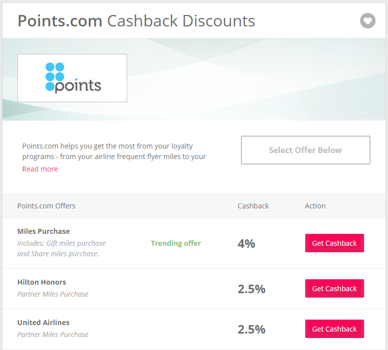 TopCashbackのpoints.com案件2