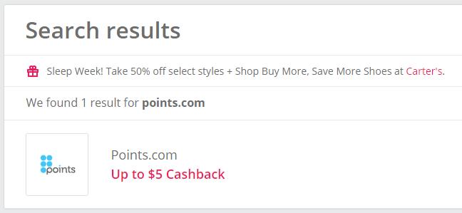 TopCashbackのpoints.com案件1