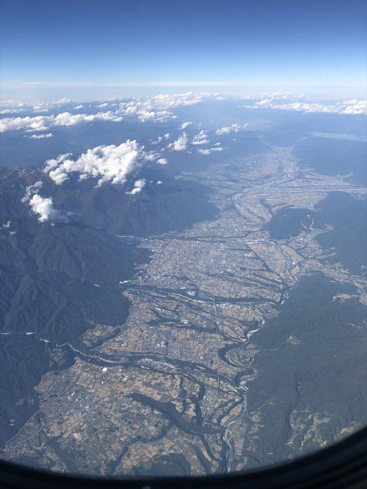 ANA1101便から見た伊那谷