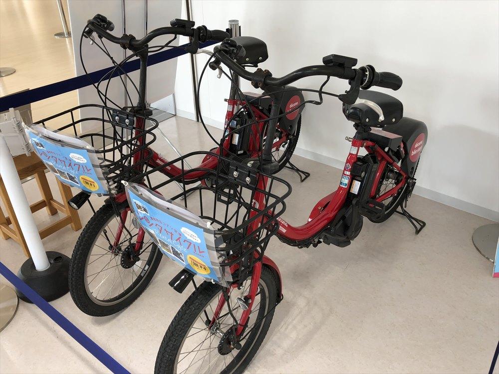 鳥取空港のドコモのレンタサイクル2