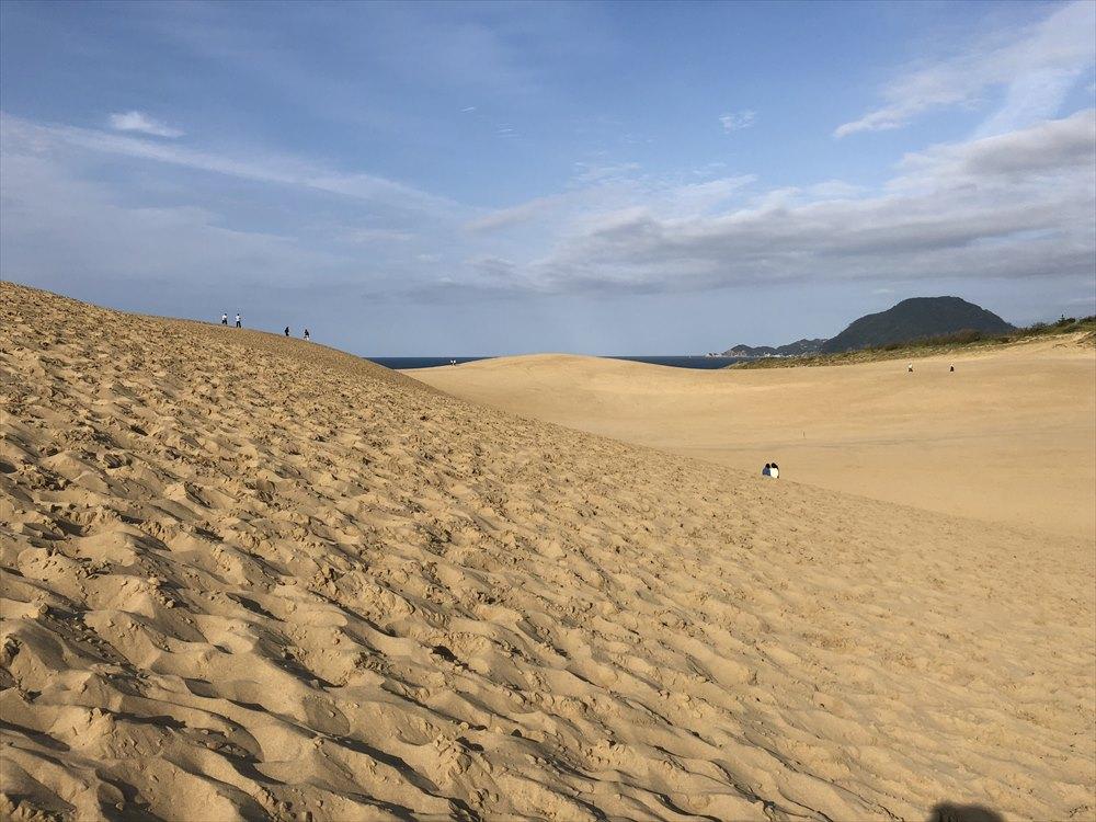 鳥取砂丘のゆるやかな斜面1