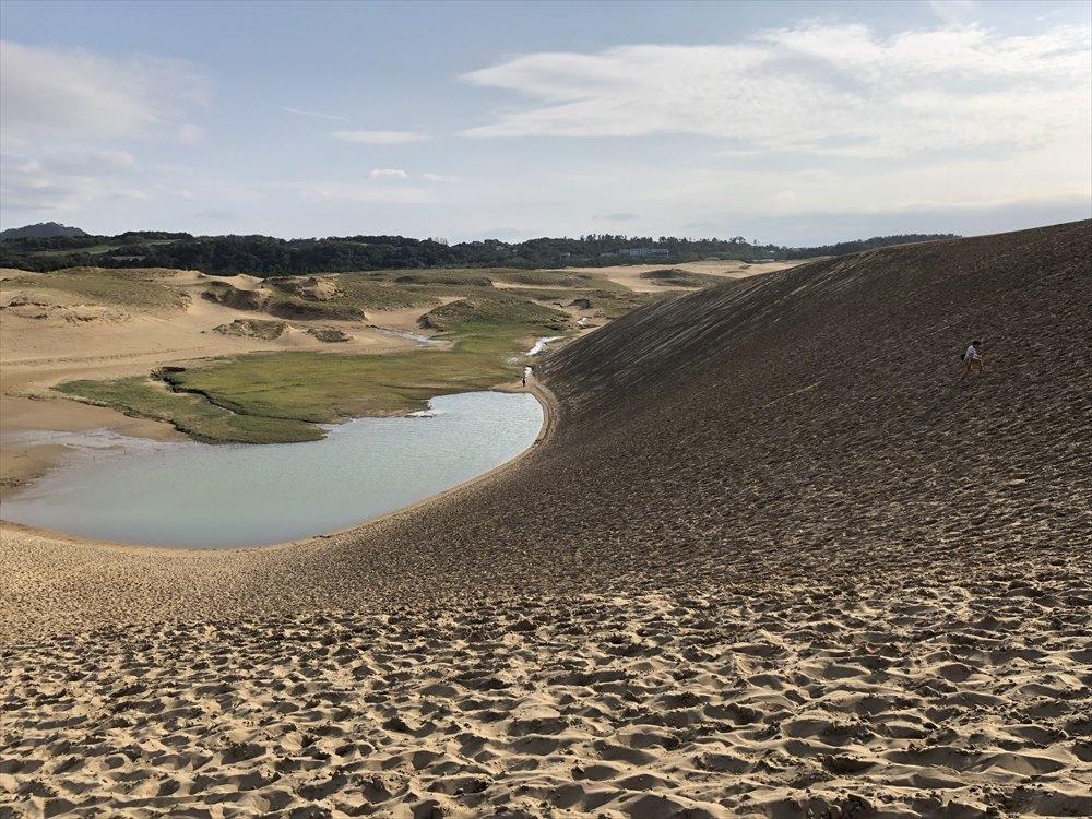 鳥取砂丘のゆるやかな斜面3