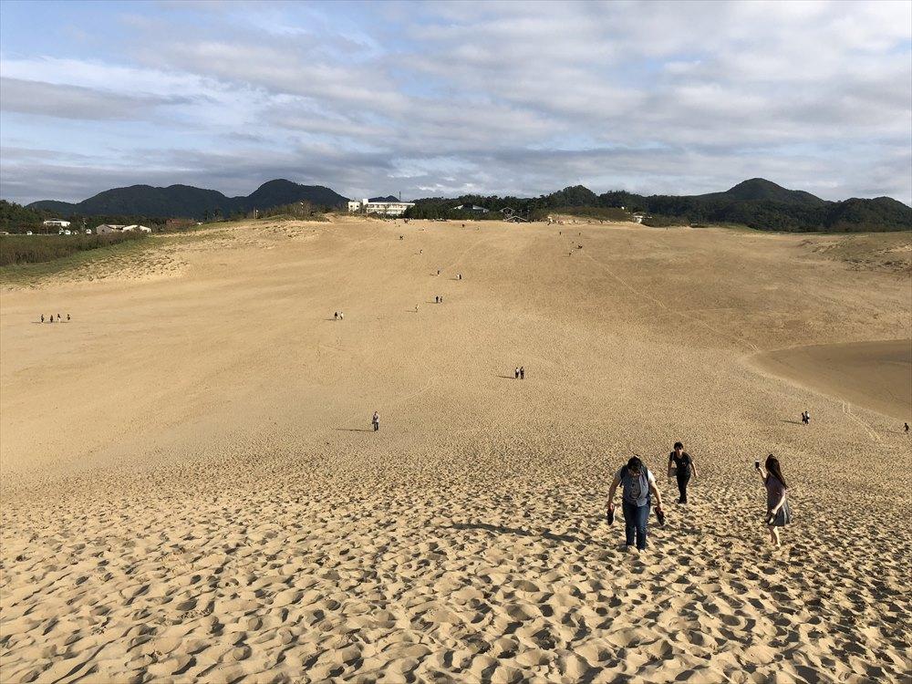 鳥取砂丘のゆるやかな斜面2
