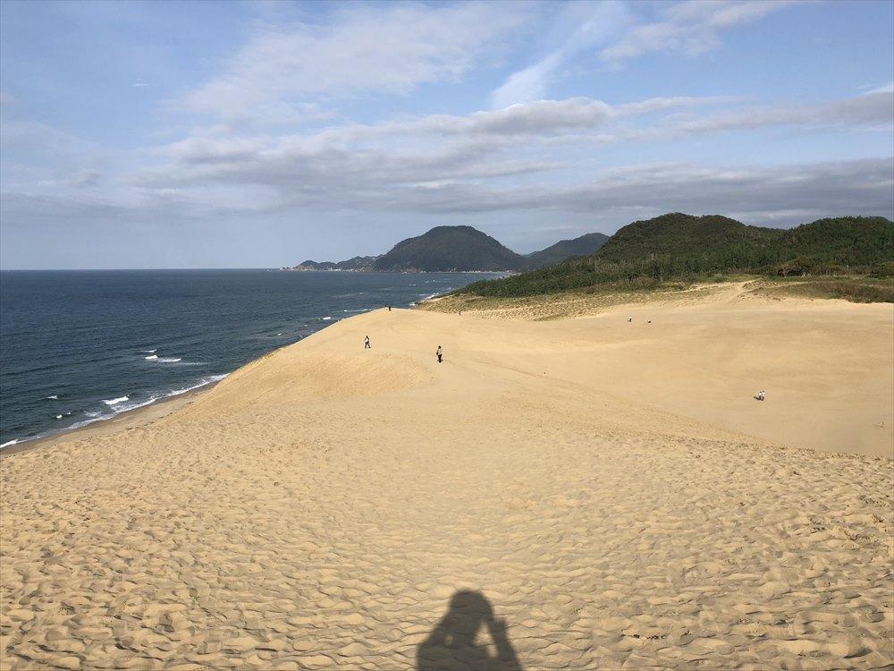 鳥取砂丘の馬の背の上3