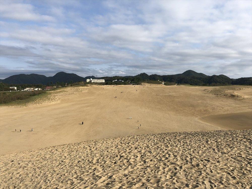 鳥取砂丘の馬の背の上4