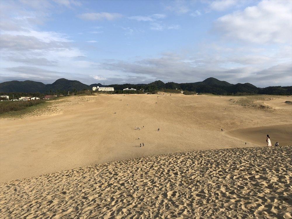鳥取砂丘の馬の背から帰る1