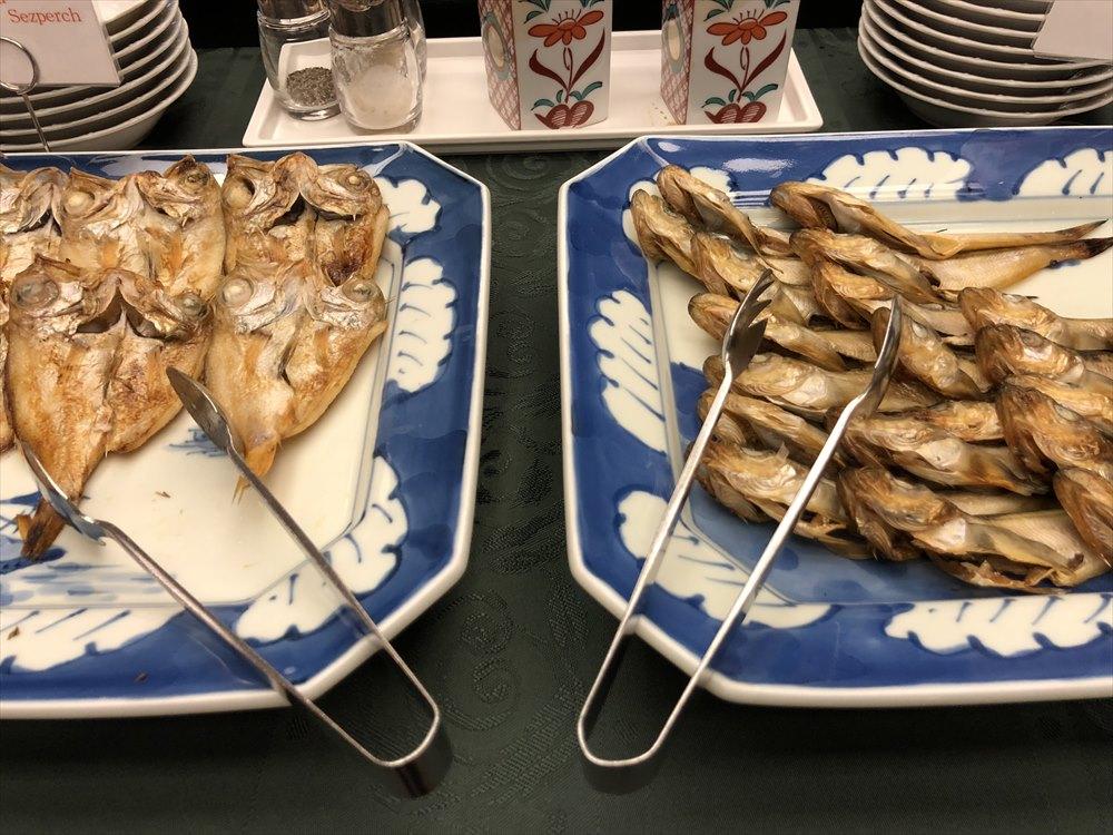 ホテルモナーク鳥取ののどぐろとハタハタの干物