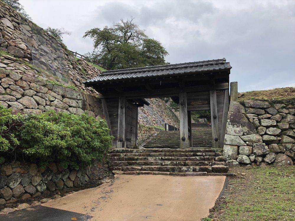 鳥取城登城1