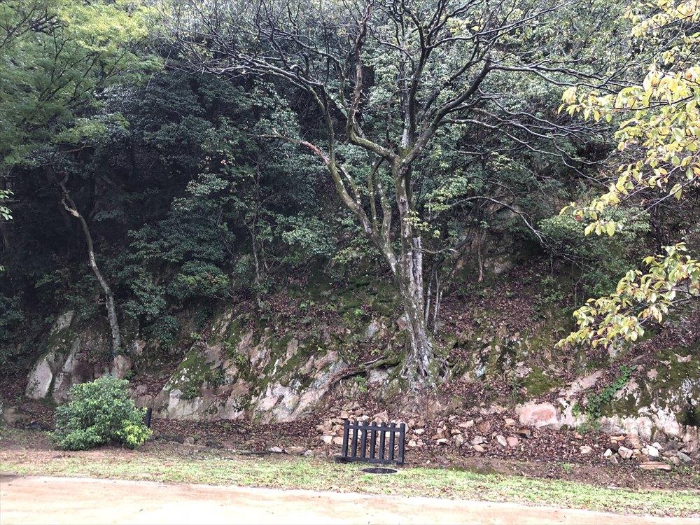 鳥取城の二の丸跡の石切場1