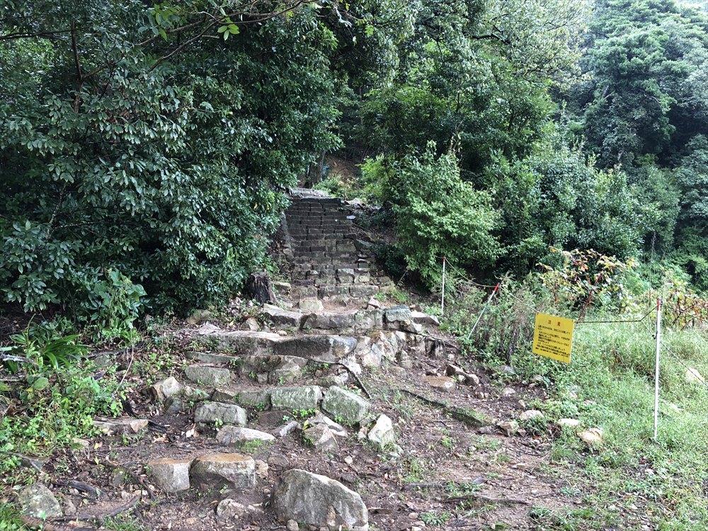 鳥取城跡の山頂までの道のり2