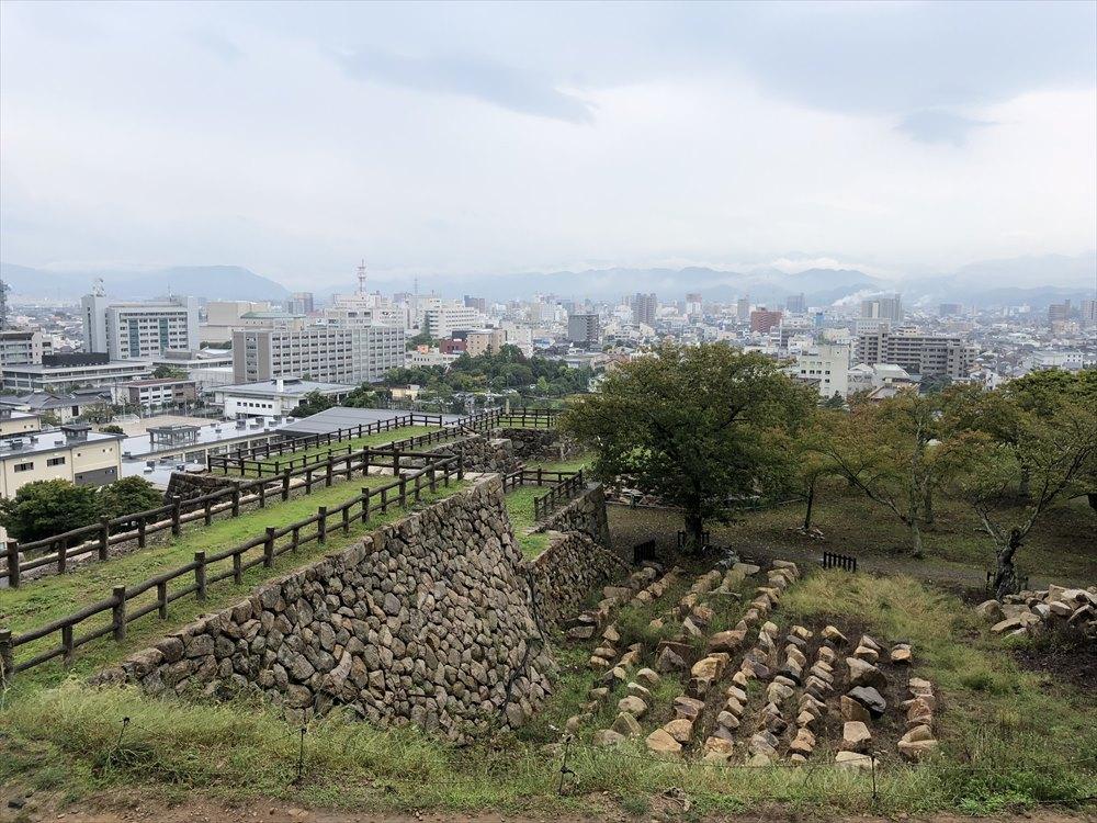 鳥取城跡の山頂までの道のり5