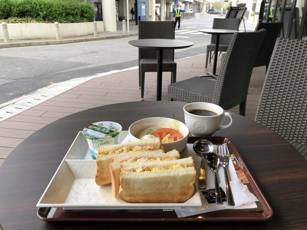 アットインホテル豊田市駅のカフェ・ド・クリエで朝食