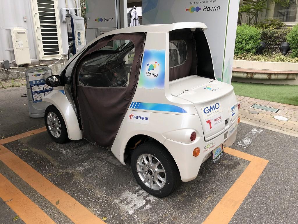 超小型EVシェアリングサービスのステーション