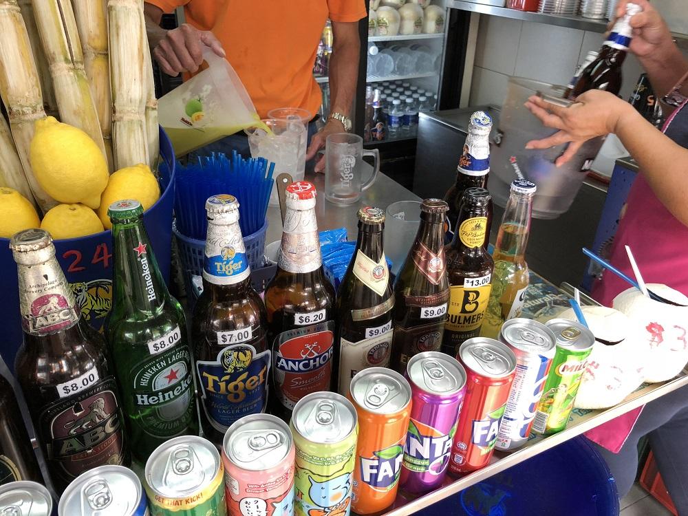 シンガポールのイーストコーストパークの245 Beer Place's Cold Drinks