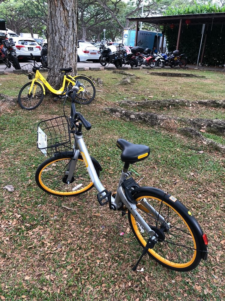 イーストコーストパークのシェアバイク