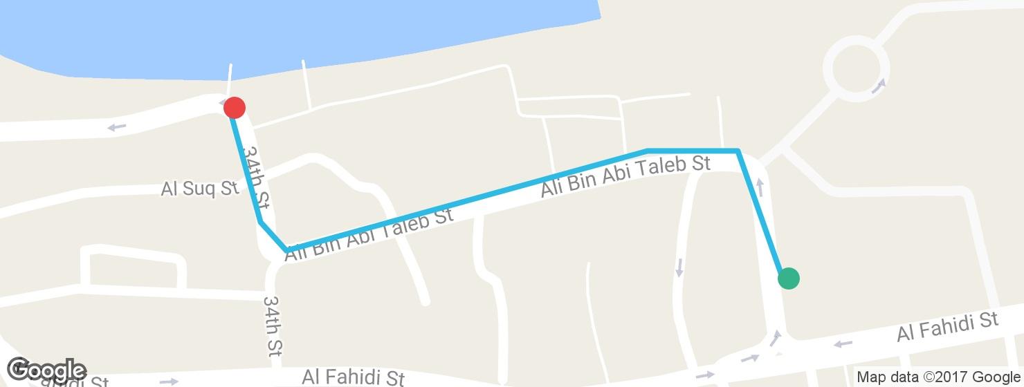 Uberでドバイ博物館からアブラ乗り場まで移動