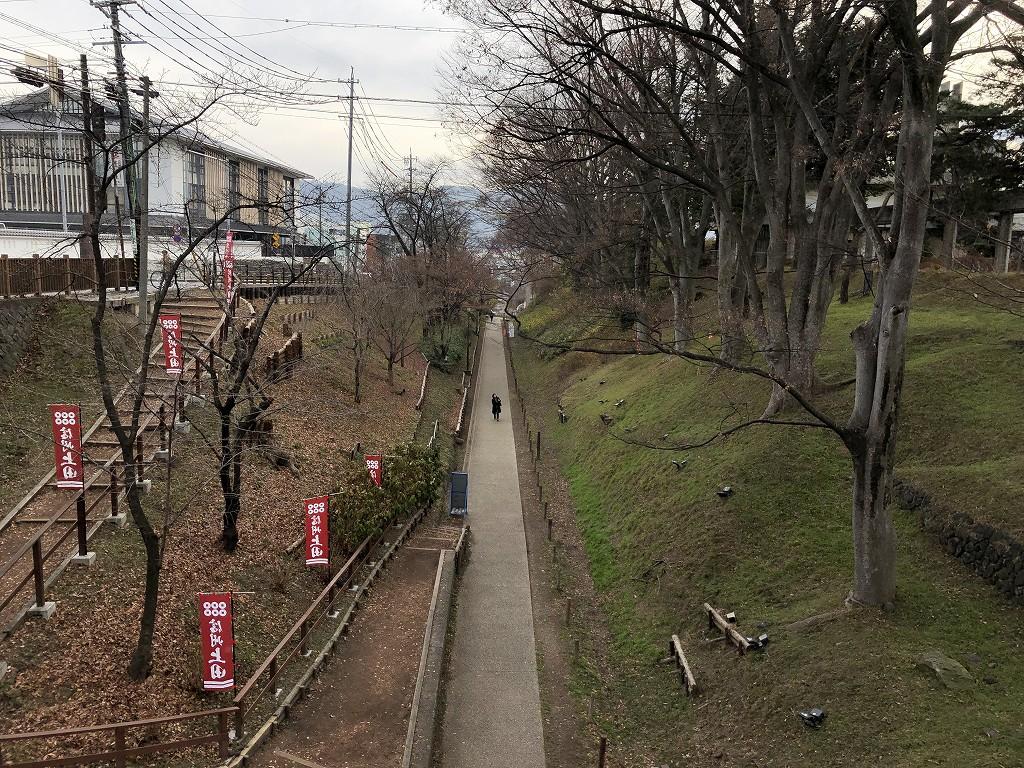 上田城の二の丸橋の堀