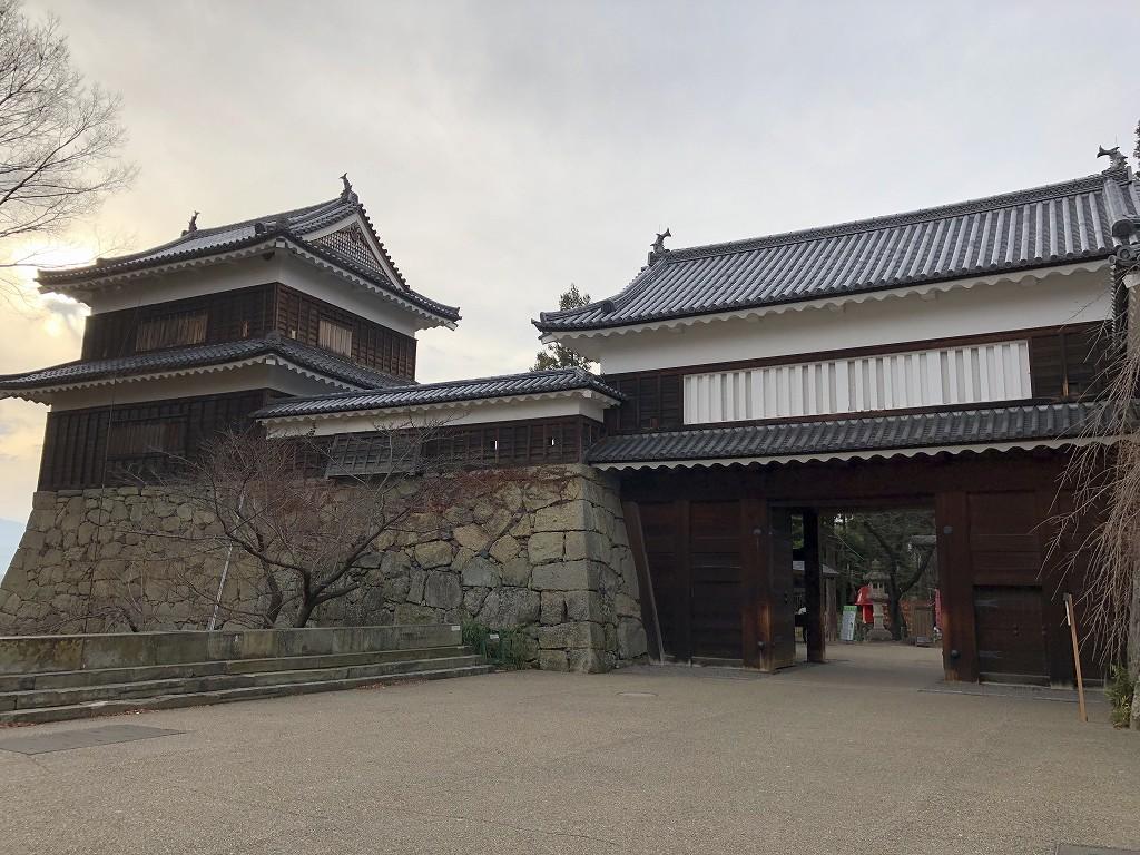 上田城の本丸東虎口の櫓門2