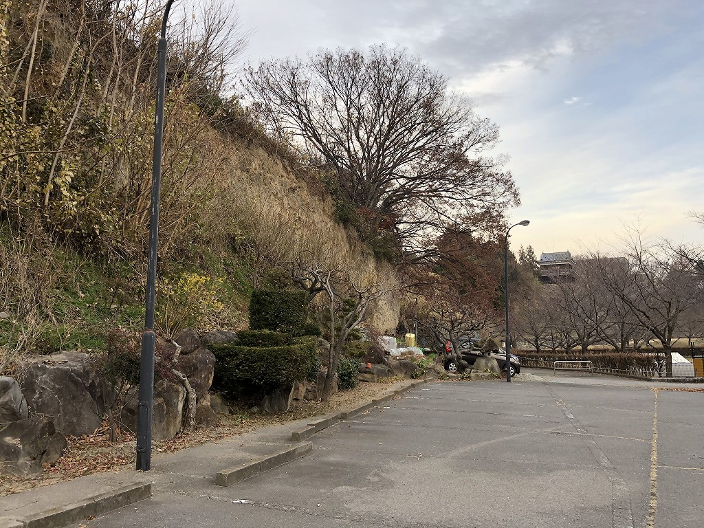 上田城の尼ヶ淵の崖2