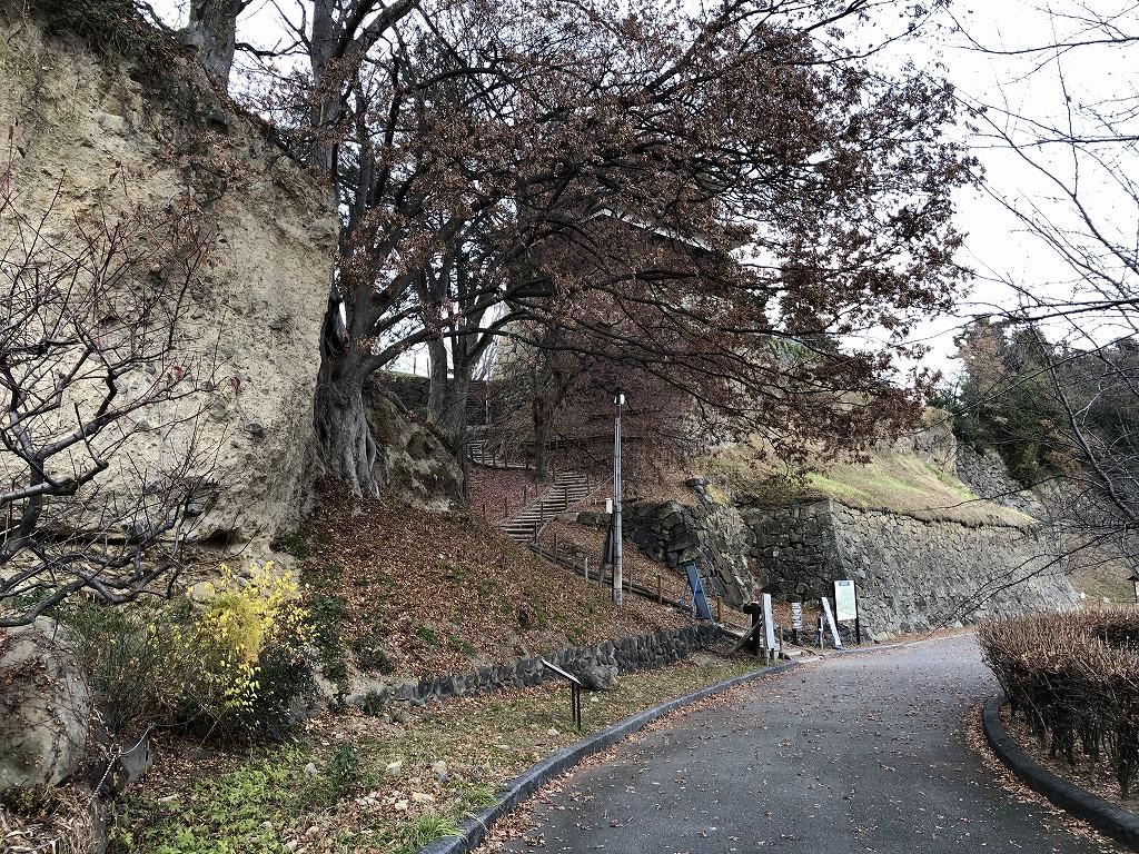 上田城の尼ヶ淵の崖3