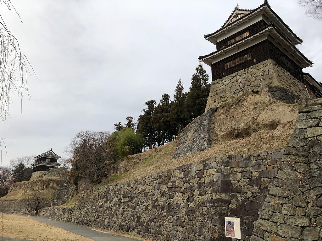 上田城の尼ヶ淵の崖8