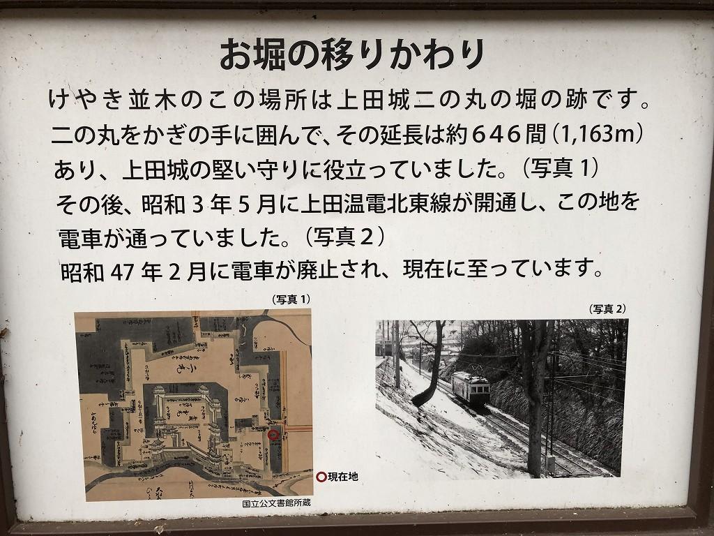上田城の二の丸橋下の堀3
