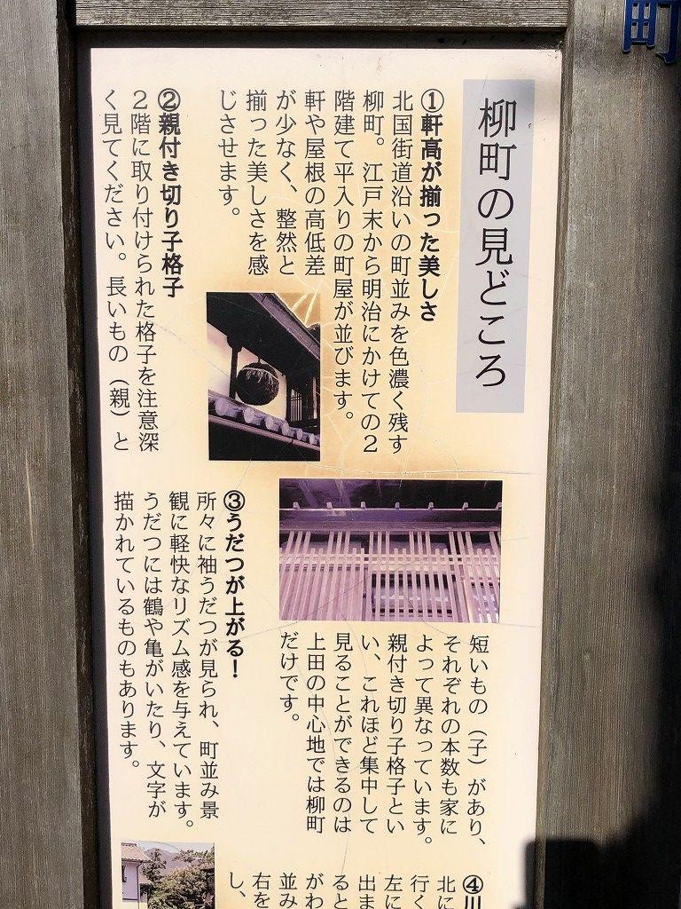 上田市の柳町の見どころ1