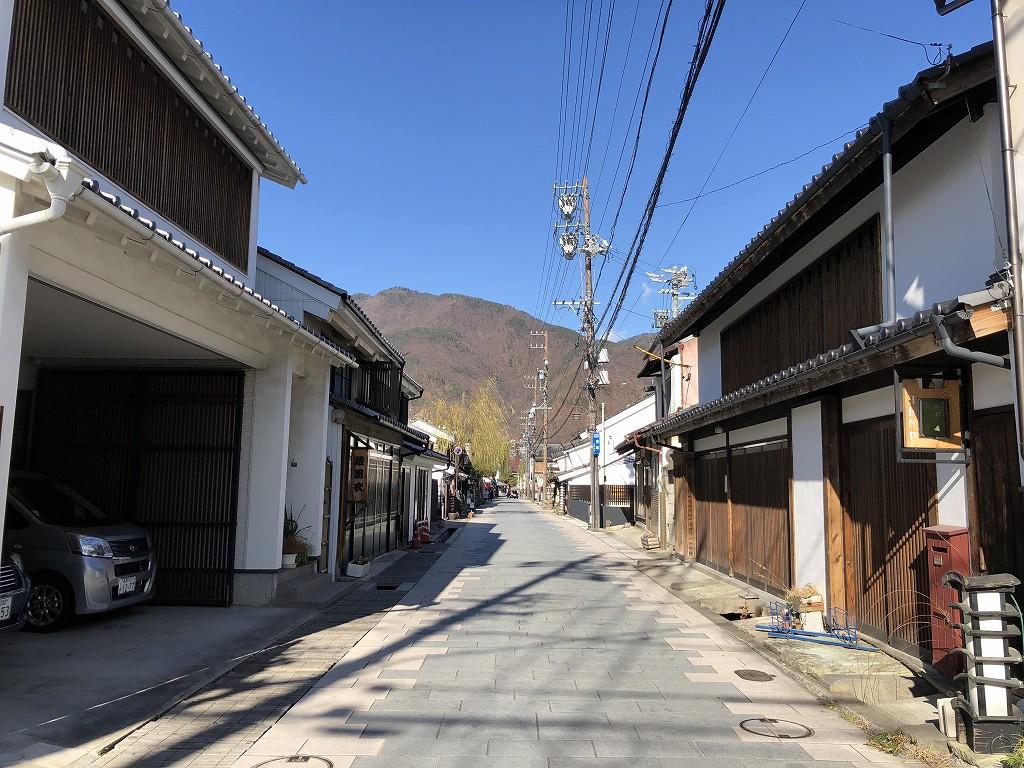 上田市の北国街道の柳町2