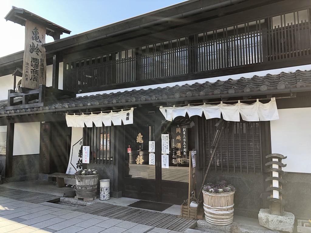 上田市の柳町の岡崎酒造