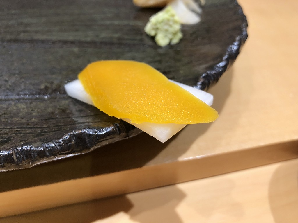 金沢の「すし屋 小桜」のからすみ